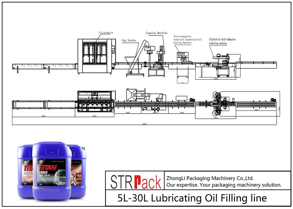 קו מילוי שמן סיכה אוטומטי 5L-30L