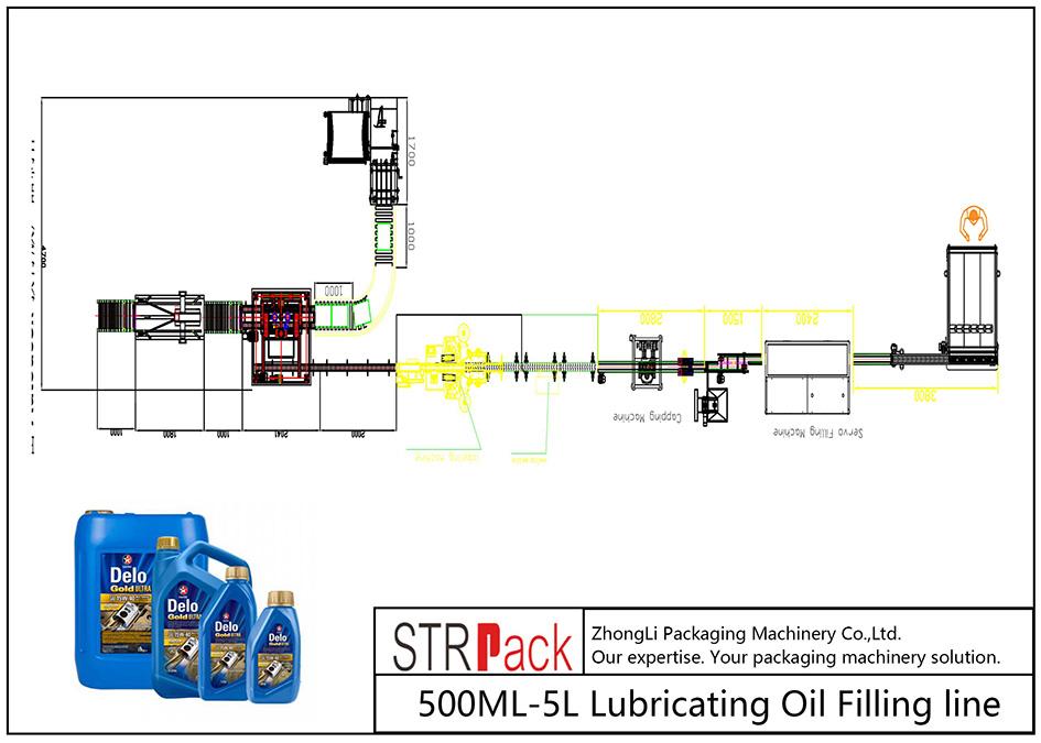 קו מילוי שמן סיכה 500ML-5L אוטומטי